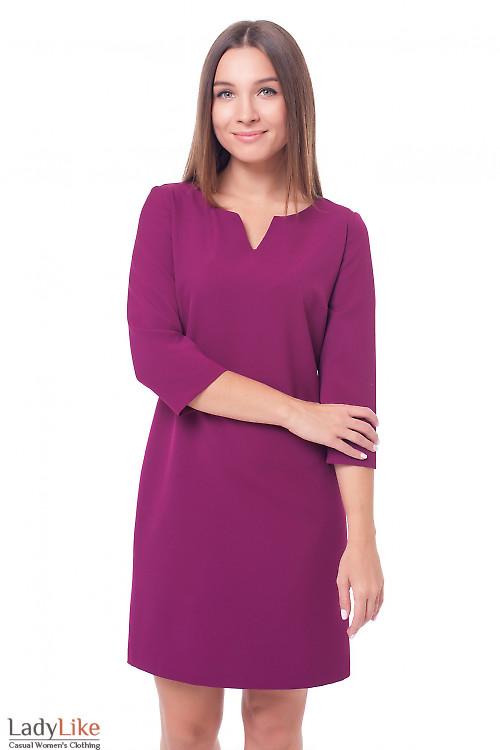 Платье цвета фуксия  Деловая женская одежда фото