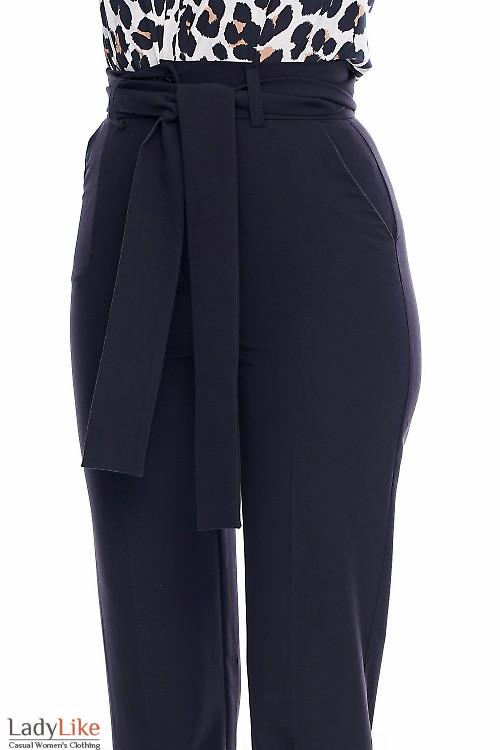 Брюки с высокой посадкой Деловая женская одежда фото