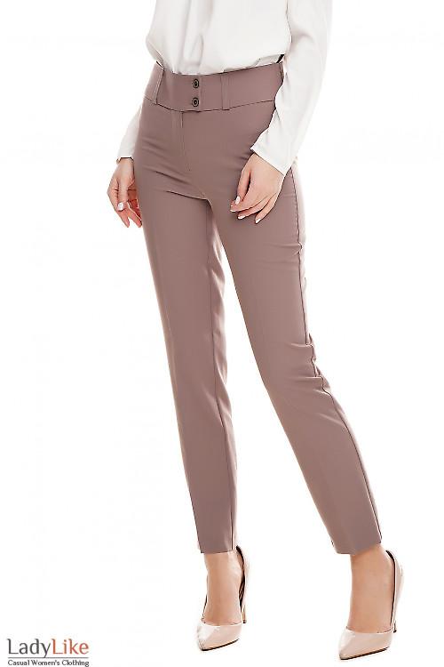 Брюки женские цвета хаки Деловая женская одежда фото