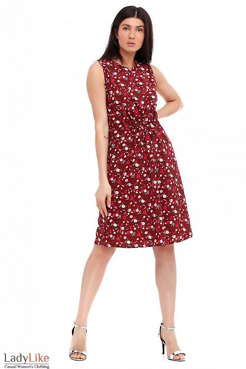 Платье бордовое с мысиком Деловая женская одежда фото