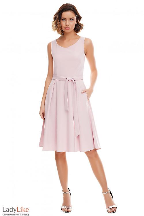 Платье лиловое в складку Деловая женская одежда фото