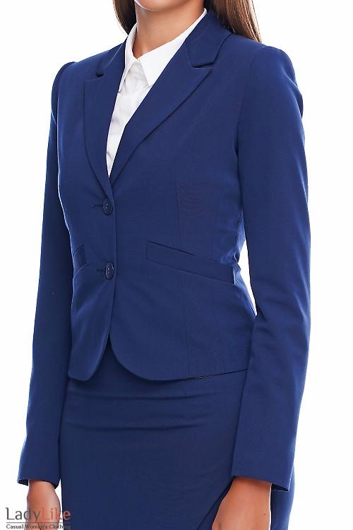 Жакет классический синий в офис Деловая женская одежда фото