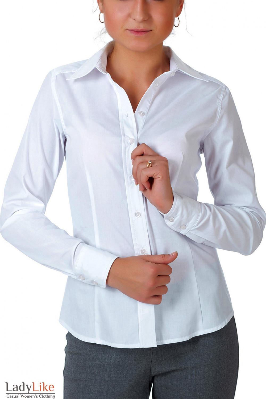 827e81d91569 Белая женская блузка с планкойАртикул: 43110000