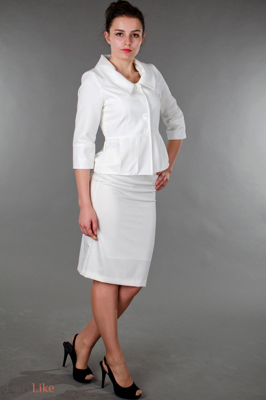 4d7bf46de69 Юбка классическая белая — купить в интернет-магазине