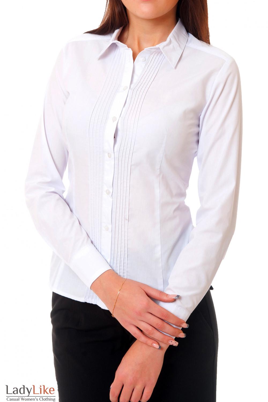 1a3c485d3b6 Блузка белая с тонкими складочками — купить в интернет-магазине ...