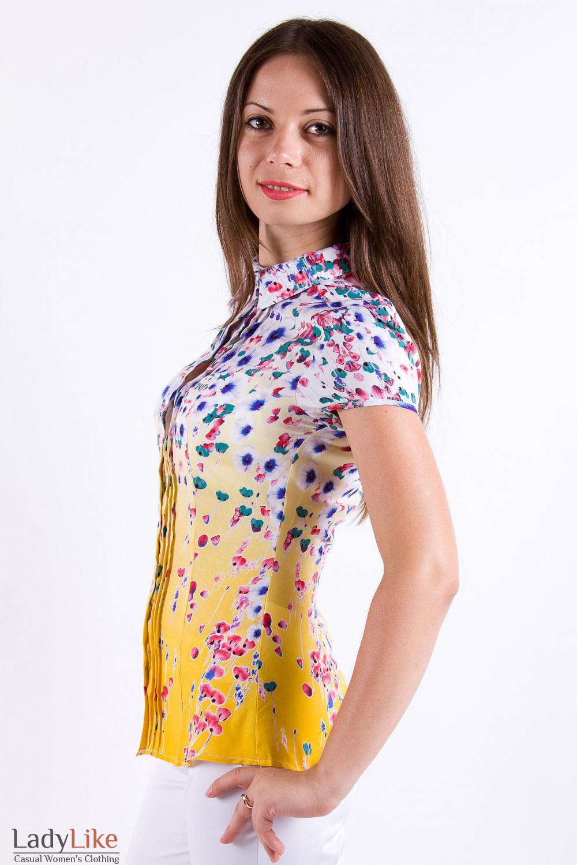c99176bdc97 Блузка из хлопка в яркий цветочек — купить в интернет-магазине ...