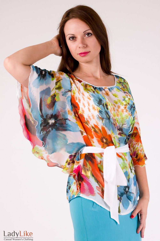 e2b8fd15407 Блузка из шифона в цветы — купить в интернет-магазине