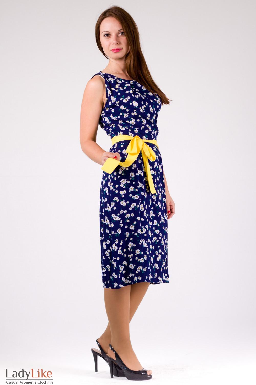 2ac56c4b7e34ad3 Платье синее в ромашки — купить в интернет-магазине | Артикул 99900002