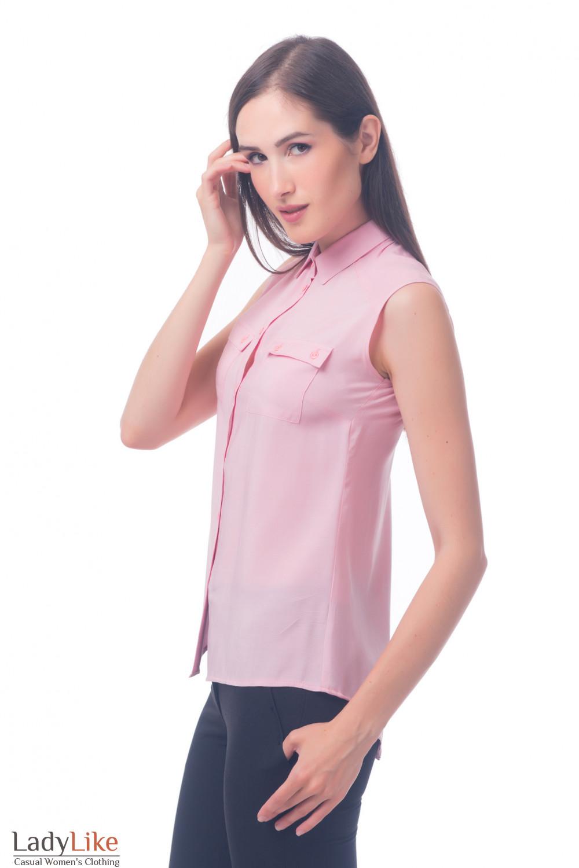 c6fd71395a3 Блузка розовая из штапеля — купить в интернет-магазине