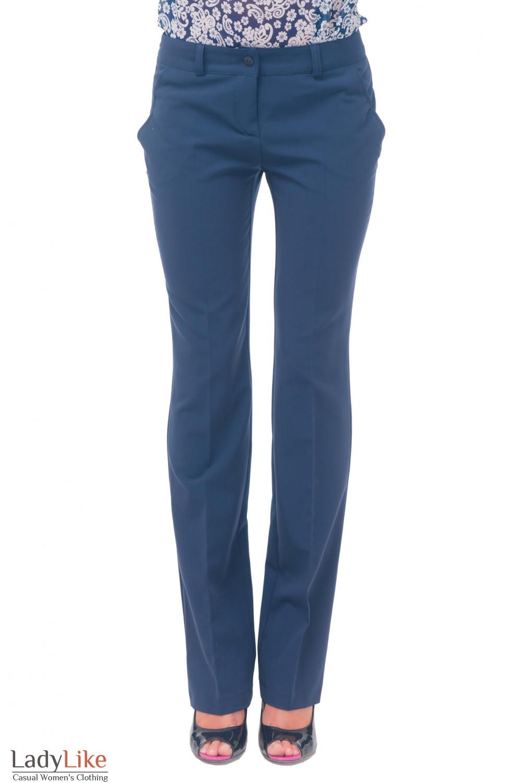 377fe1ddbe08 Брюки синие женские прямые — купить в интернет-магазине | Артикул ...