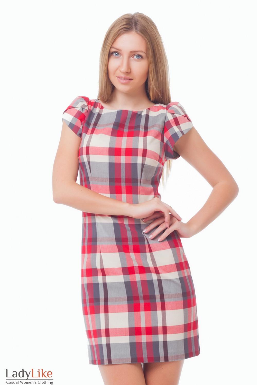3cbe398607f Платье в красно-серую клетку — купить в интернет-магазине