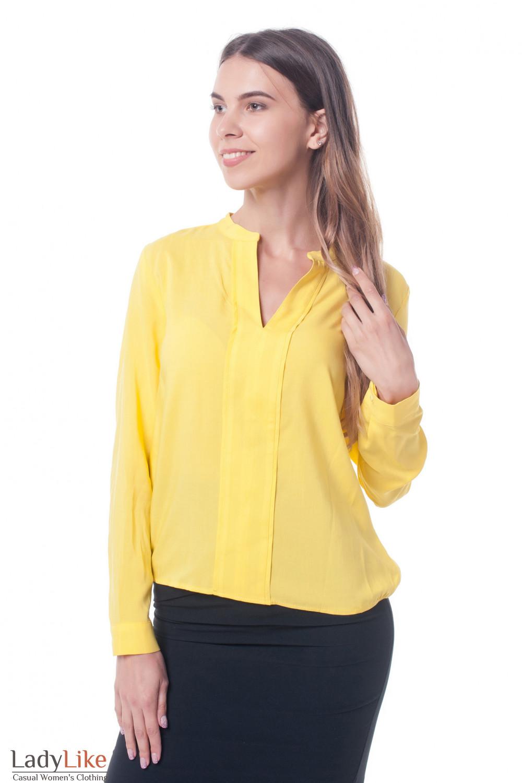 84493296080 Блузка желтая с двойной планкой — купить в интернет-магазине ...