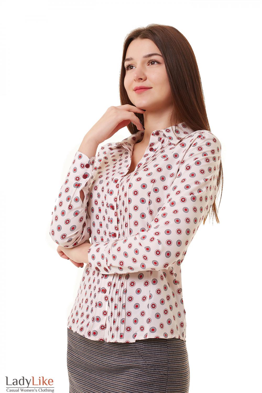 d93df11b157 Блузка розовая в коралловые круги — купить в интернет-магазине ...