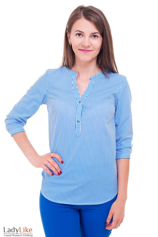 e6085db1f2d Блузка в яркую голубую полоску — купить в интернет-магазине ...