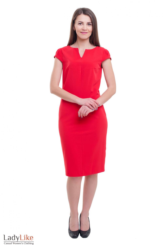 ab1d8f76826 Красное платье с разрезом на горловине — купить в интернет-магазине ...
