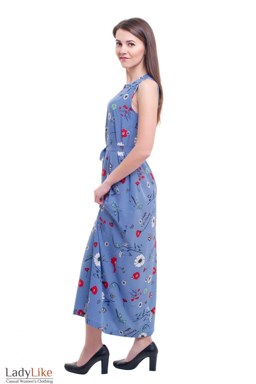 630bc9928156f82 Летнее полосатое платье в пол. Артикул: 105012463. Летнее полосатое платье  в пол ...