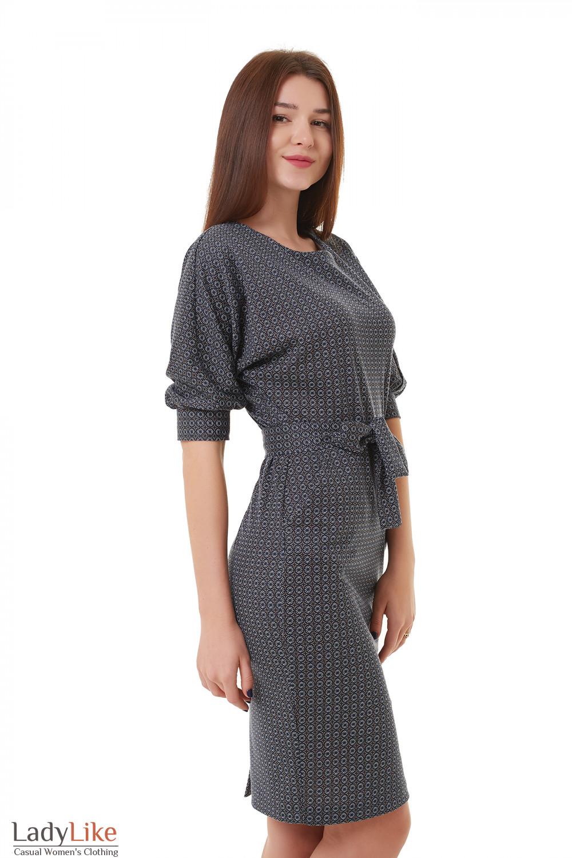 93fc9cf1fb6 Платье трикотажное с поясом и карманами — купить в интернет-магазине ...