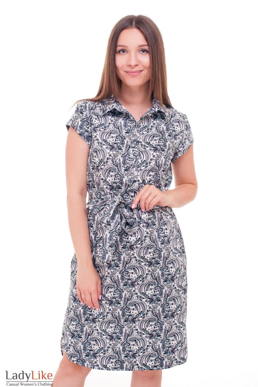 3eb66058698 Платье в черные огурцы с пуговичками — купить в интернет-магазине ...