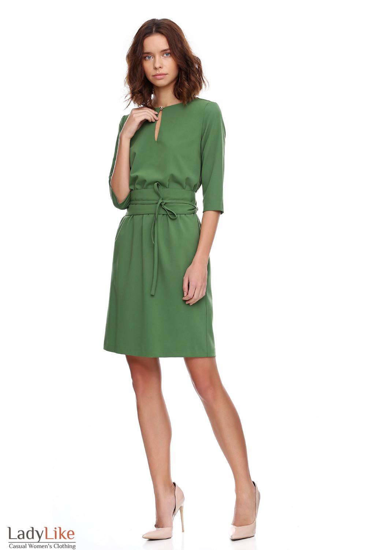89e498f747b Платье зеленое на резинке — купить в интернет-магазине