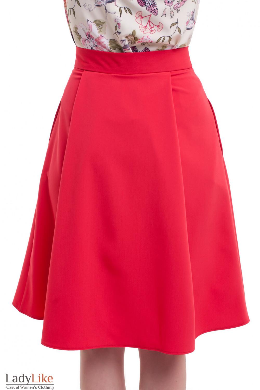 b07c953e3bd Пышная красная юбка миди. Артикул  148120010. Пышная красная юбка миди  Деловая ...