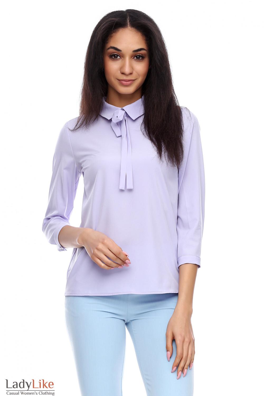 8a8b2ca6209 Блузка с завязками фиолетовая — купить в интернет-магазине