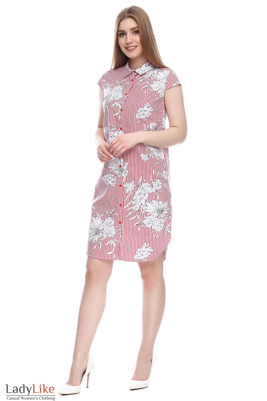 3bf11f253becf Платье-рубашка в красную полоску — купить в интернет-магазине ...