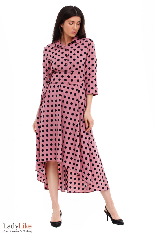 75d7fd456dfd024 Платье розовое в чёрный горох — купить в интернет-магазине | Артикул ...