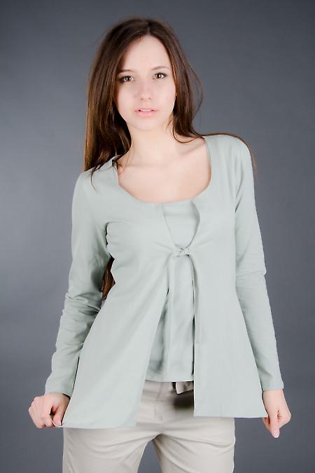 Кардиган бледно-зеленый Деловая женская одежда