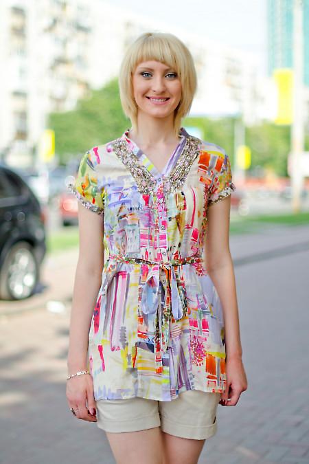 Туника с поясом Деловая женская одежда
