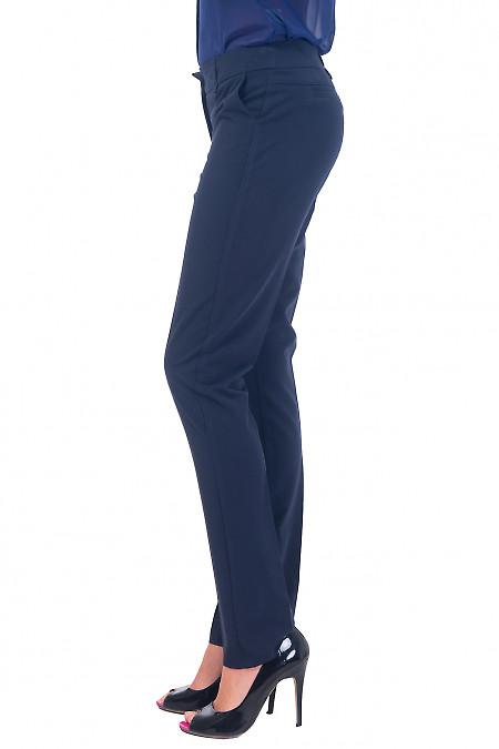 Купить брюки синие длиной 7/8 Деловая женская одежда