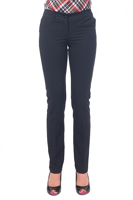Брюки черные длиной 7/8 Деловая женская одежда