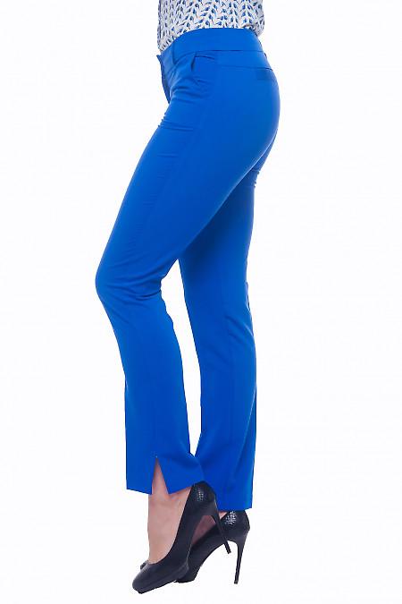 Купить брюки электрик с двойной кокеткой сзади Деловая женская одежда