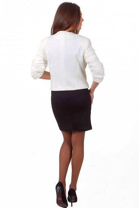 Фото Болеро молочное вид сзади Деловая женская одежда