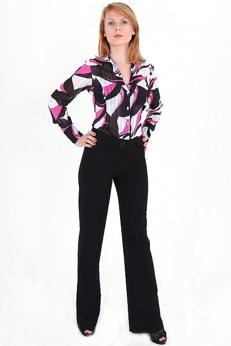 Фото Брюки черные классические с карманами-обманками Деловая женская одежда