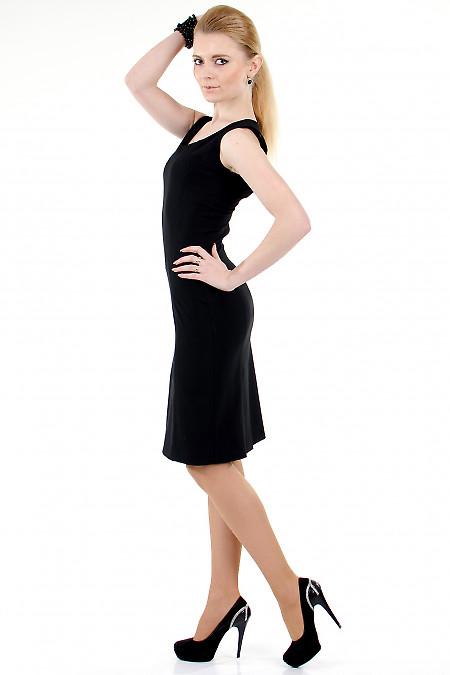 Фото Сарафан черный классический вид сбоку Деловая женская одежда