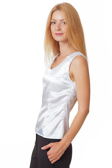 Купить белую атласную блузку Деловая женская одежда