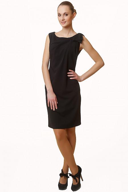 Купить платье черное с бантиком Деловая женская одежда