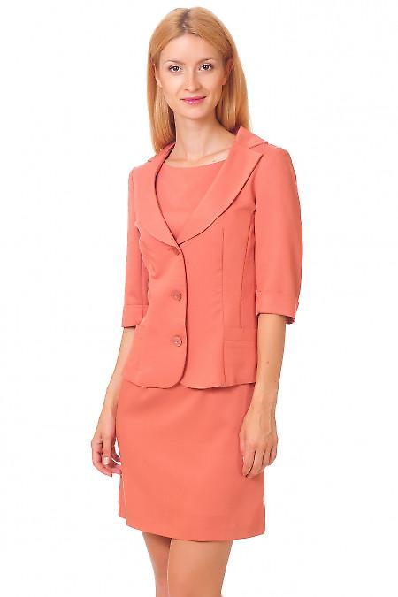 Жакет терракотовый Деловая женская одежда