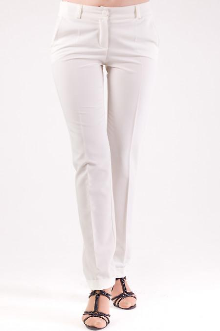 Фото Брюки молочные с манжетами Деловая женская одежда