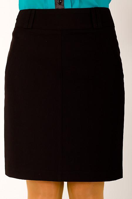 Фото Юбка в офис короткая черная Деловая женская одежда