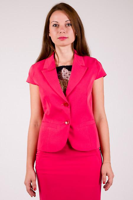 Фото Жакет розовый Деловая женская одежда