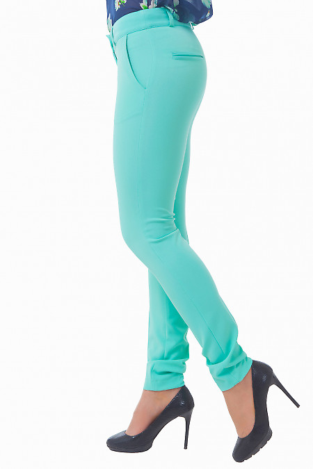 Купить бирюзовые брюки Деловая женская одежда