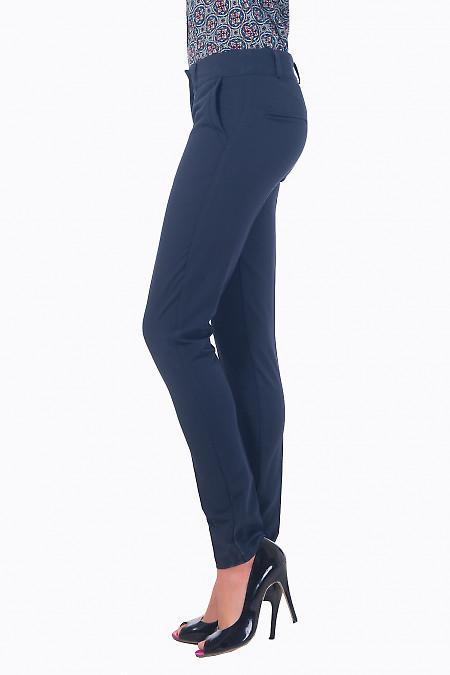 Купить брюки женские синие со вставкой на кармане Деловая женская одежда