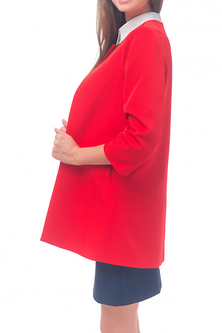Нарядный кардиган красного цвета Деловая женская одежда