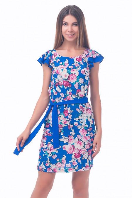 Фото Платье из штапеля в розы Деловая женская одежда