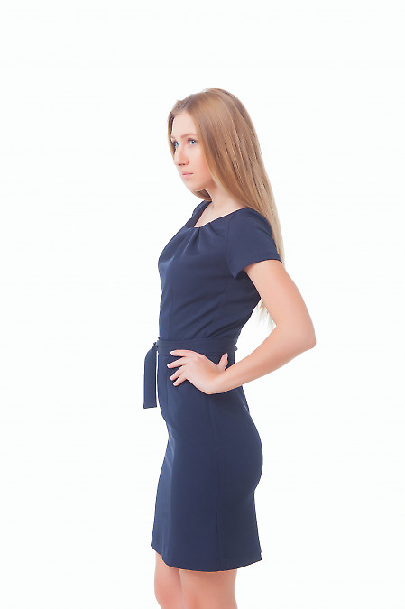 Купить платье с защипами Деловая женская одежда