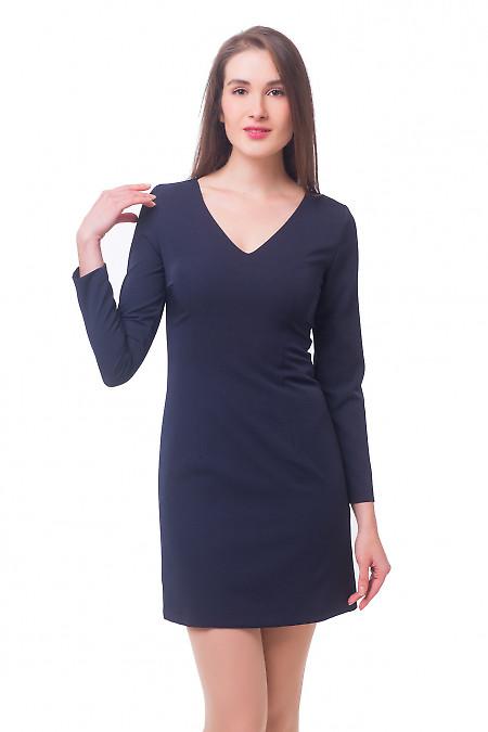 Платье темно-синее строгое Деловая женская одежда