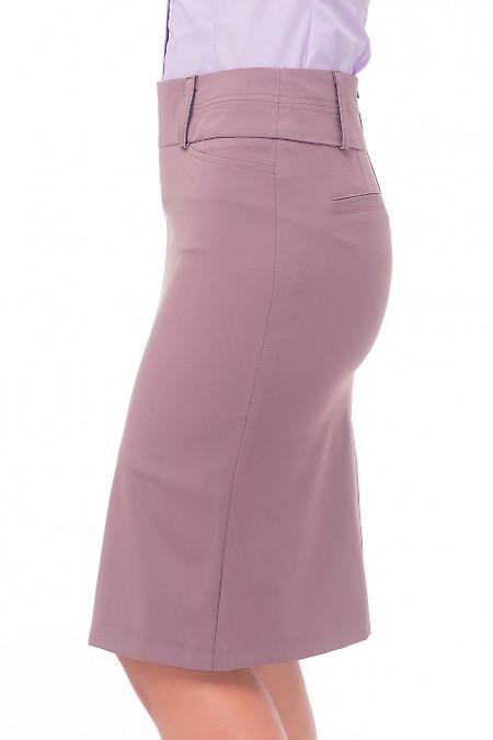 Купить сиреневую юбку с встречной складкой Деловая женская одежда
