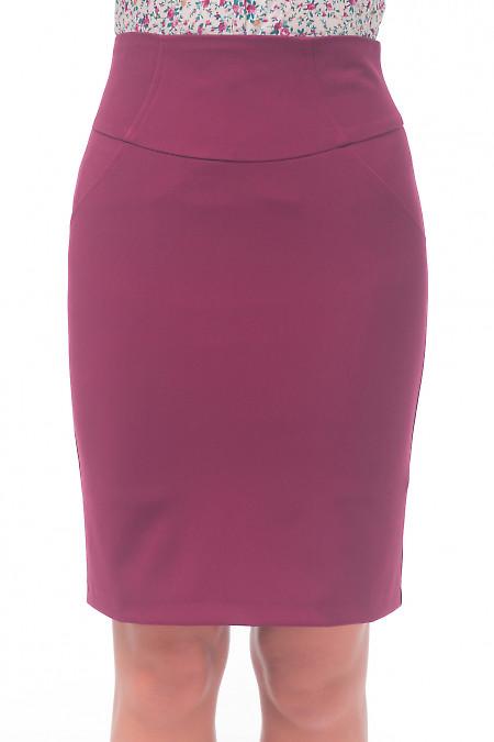 Юбка бордовая осенняя Деловая женская одежда