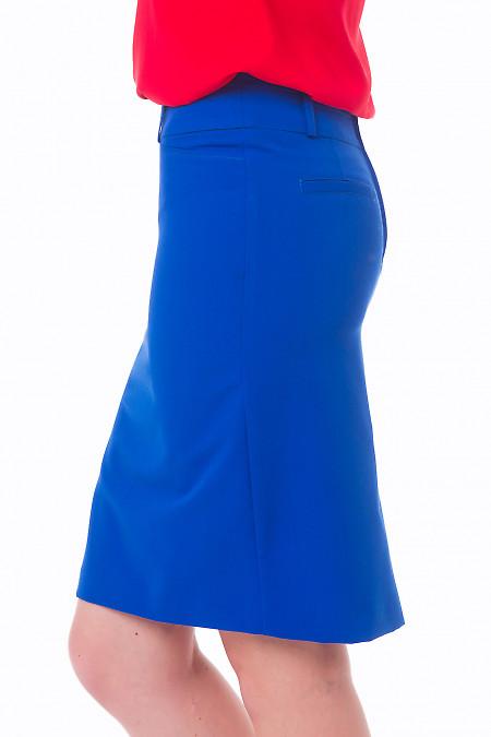 Купить юбку цвета индиго Деловая женская одежда